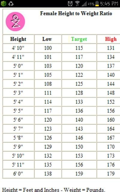 Average Weight  Information On Average Female And Male Weight