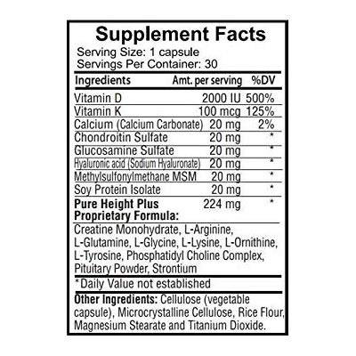 PureHeight Plus Ingredients