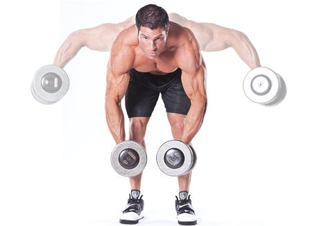 Dumbbell Bent-Over Lateral Raise