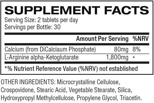 NO2 Max Ingredients