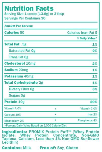ProMix Protein Puffs Ingredients