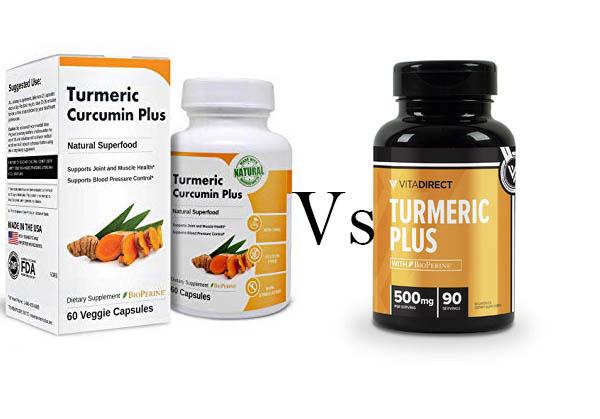 Turmeric Curcumin Plus By Vita Balance Vs Vitadirect Turmeric Curcumin Plus