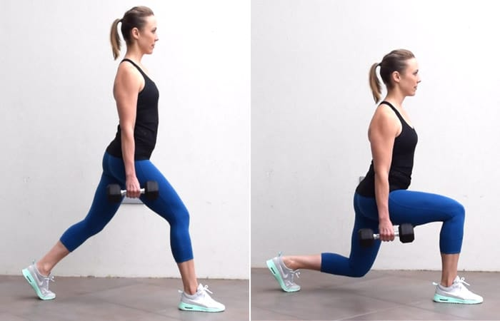 Walking Lunges With Weight