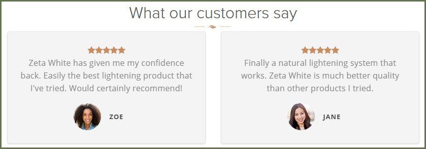 Zeta White Cream User Review