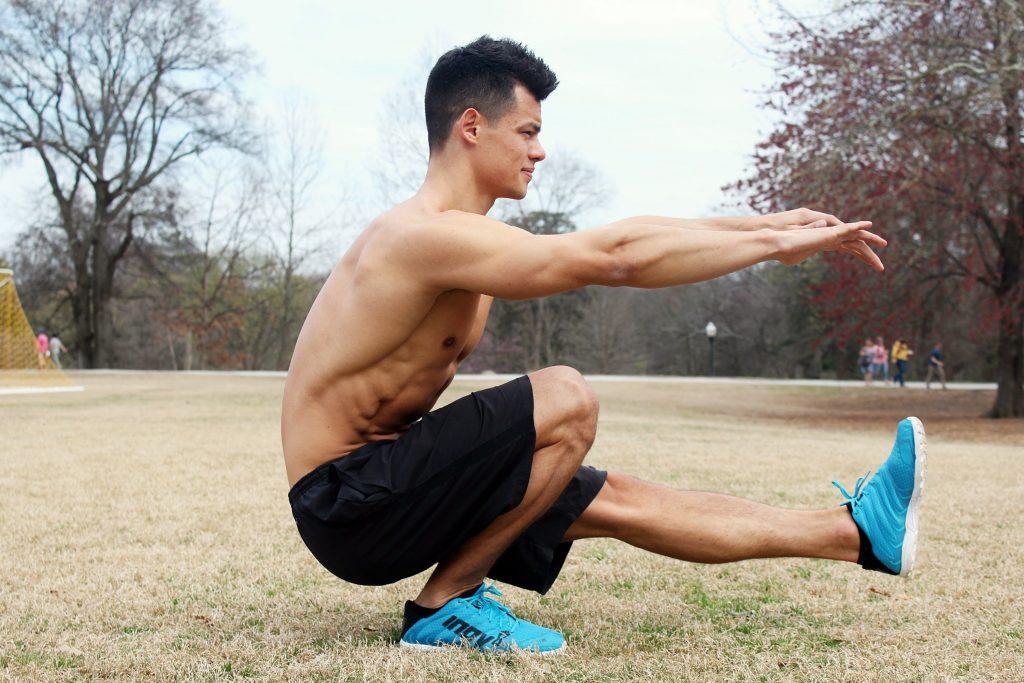 One-legged -Bodyweight squats