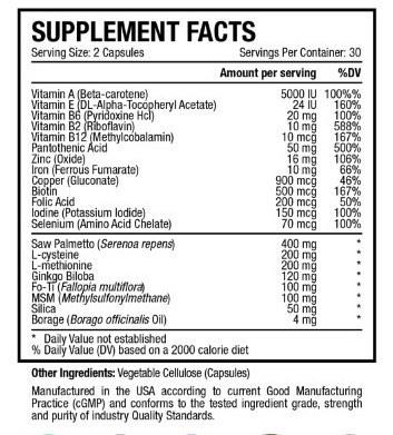 Hairprin Ingredients