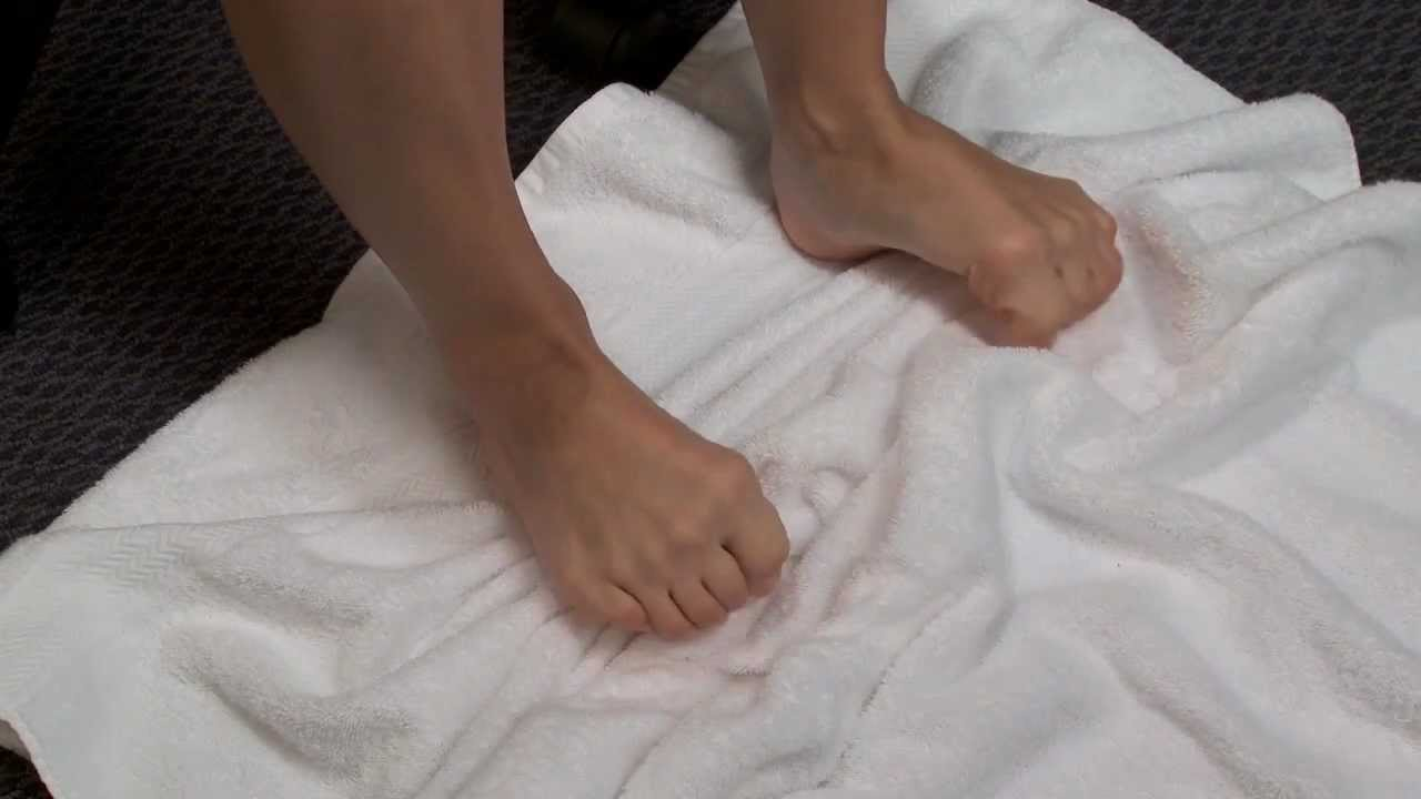 towel pull exercise